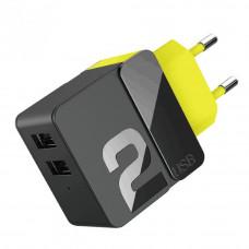 Сетевое зарядное устройство на 2 USB ROCK RWC-0446