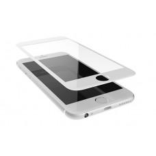 Защитное стекло iPhone 6/6S 3D/5D с белой рамкой