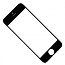 Стекло с рамкой и OCA iPhone 5, (черный)