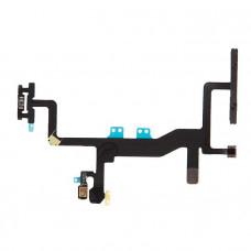 Шлейф боковой iPhone 6S: кнопка включения, кнопки громкости, вспышка